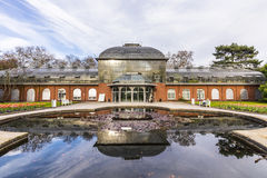 Entrance building of the  palmengarten in Frankfurt, Germany Royalty Free Stock Image