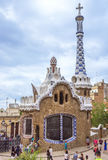 Entrance building to the Parc Guell Royalty Free Stock Images