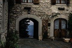 Entrance building with views, Sestola Stock Images