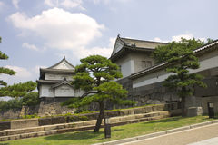 Entrance buildings to Osaka castle Royalty Free Stock Images