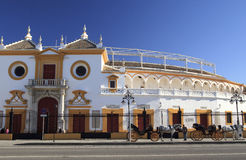 Entrance bull fight arena in Seville Royalty Free Stock Photos