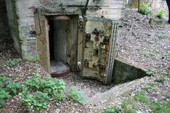 Entrance into bunker Royalty Free Stock Photography