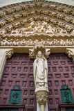 Entrance Burgos Cathedral. A detail of the entrance to the Burgos Cathedral Royalty Free Stock Photos