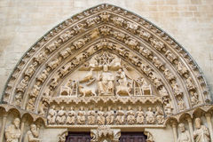 Entrance Burgos Cathedral. A detail of the entrance to the Burgos Cathedral Royalty Free Stock Image