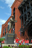 Entrance of Busch Stadium. ST LOUIS - Missouri: Outside of Busch Stadium with statue of Stan The Man Musial. Bush Stadium is the home of the Saint Louis Stock Image