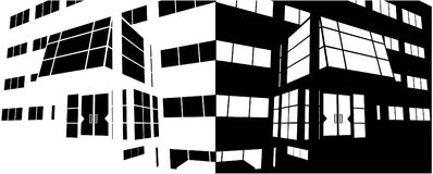 Entrance Of Business Building Negative Vector 02. Entrance Of Business Building Negative Isolated Illustration Vector Stock Image