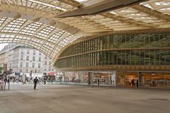 Entrance and canopy forum les halles in paris Royalty Free Stock Photo