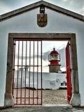Entrance Cape Saint Vincent Lighthouse Stock Images