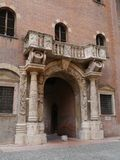 The entrance of the captains palace in Verona Stock Photos