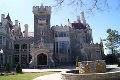 The entrance of Casa Loma Castle in Toronto, Canada Royalty Free Stock Images
