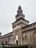 Entrance of Castello Sforzesco in Milan, Italy Royalty Free Stock Image
