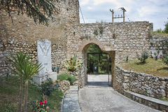 Entrance of the castle of Lamia City Stock Images