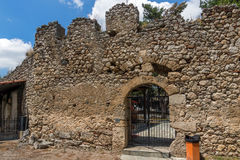 Entrance of the castle of Lamia City, Greece Stock Image