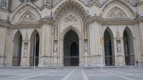 Entrance - Cathédrale Sainte-Croix d'Orléans - Jean D Arc  street. View  of Cathédrale Sainte-Croix d'Orléans in Orleans, France Royalty Free Stock Image