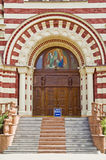 Entrance into the cathedral Royalty Free Stock Images