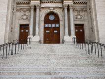 Entrance of the Cathedral stock photo