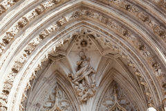 Entrance in cathedral, de Toledo Royalty Free Stock Image