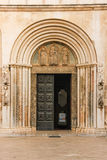 Entrance. Cathedral of St Anastasia. Zadar. Croatia. Royalty Free Stock Photography