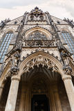 Entrance in Cathedral of St Peter and Paul in Brno Stock Photos