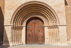 Entrance of the Cathedral - Valencia Spain Stock Image