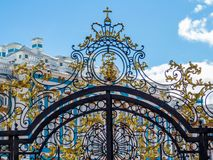 Entrance of Catherine Palace in Pushkin, Saint Petersburg, Russia Royalty Free Stock Photos