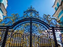 Entrance of Catherine Palace in Pushkin, Saint Petersburg, Russia Royalty Free Stock Photo