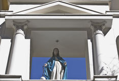 Entrance of a Catholic church. Detail from entrance of a Catholic church in Greece Royalty Free Stock Photography
