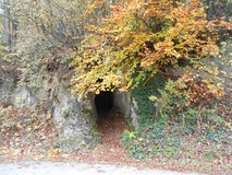 Entrance into the cave,Banja Luka. Entrance to the cave, Banja Luka Stock Photos