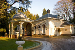 Entrance of a cemetery. Beautiful entrance of a cemetery in Baarn, the Netherlands Stock Photo