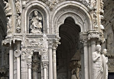 The entrance of Chartres cathedral Stock Photography