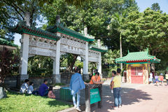Entrance of chinese garden in Rizal park Stock Photos