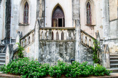 Entrance In A Christian Monastery. At vietnam Stock Photo