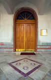 Entrance of a church Stock Image