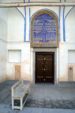 Entrance of church. Church Bethleem in Armenian region of Esfahan, Iran Royalty Free Stock Image