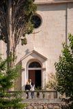 Entrance of a church Stock Photos