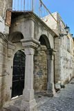 Entrance of Church of St. Vlasiosin old town of Xanthi,Greece Stock Photography