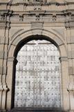 Entrance of a church in zaragoza Royalty Free Stock Image