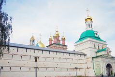Entrance and churches of Trinity Sergius Lavra Royalty Free Stock Image