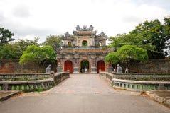 Entrance of Citadel in Hue, Vietnam Stock Photos