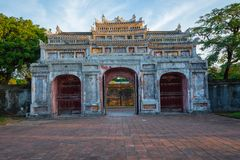 Entrance of Citadel. Imperial Royal Palace of Nguyen dynasty in. Hue, Vietnam. Unesco World Heritage Site stock photography