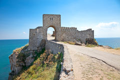 The entrance of citadel Kaliakra in Bulgaria. Stock Image