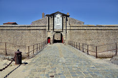 Entrance citadel of Port-Louis in France Royalty Free Stock Photo