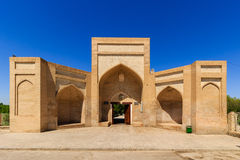 Entrance in city of the dead. Memorial complex, necropolis Chor-Bakr in Bukhara, Uzbekistan. UNESCO world Heritage Royalty Free Stock Image