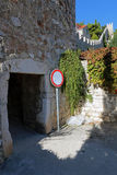 Entrance through the city walls of town of Hvar Stock Photography