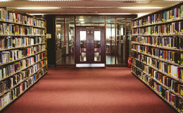 Entrance of the college library Stock Photos