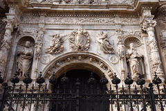 Entrance of Collegiate. Church of Santa Maria la Mayor, Calatayud. Zaragoza province, Aragon Royalty Free Stock Images