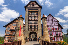 Entrance of Colmar Tropicale, Bukit Tinggi, Pahang. Royalty Free Stock Photo