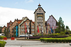Entrance of Colmar Tropicale, Malaysia. A french themed resort, which is a replica of a 16th Century French Village Royalty Free Stock Photography