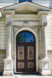 Entrance with columns door Stock Image