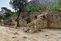 The Entrance Complex. Ruins of ancient city Olympos in Lycia. Turkey Stock Images